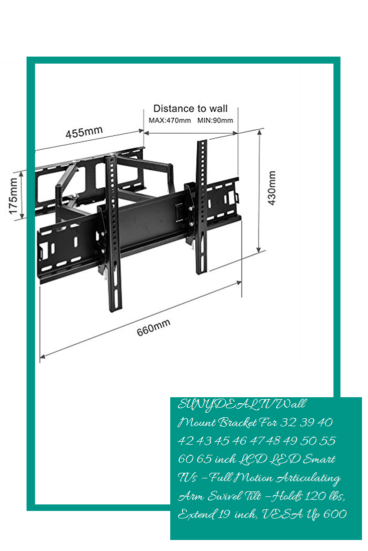 Articulating Swivel LED LCD TV Wall Mount Bracket 32 39 40 42 46 47 50 55 65/'/'