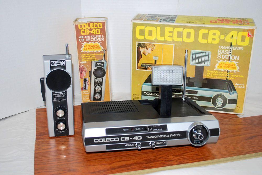 CB Radio Vintage Coleco Base & Handheld Working Hong Kong With Box