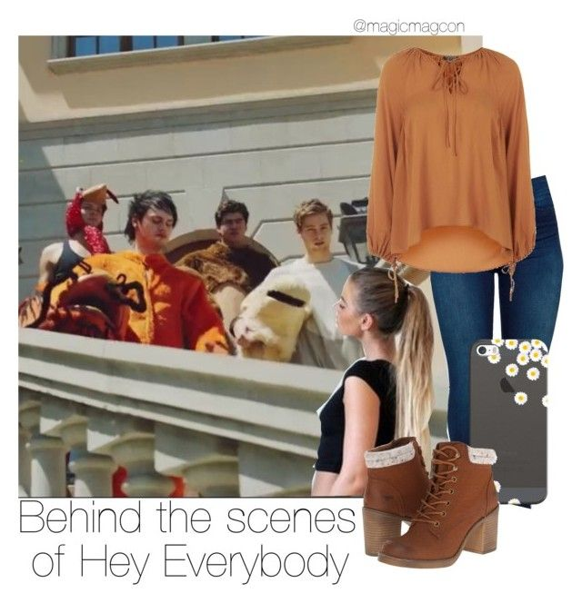 """Behind the scenes of Hey Everybody"" by magicmagcon ❤ liked on Polyvore featuring BLANKNYC, Casetify, Rocket Dog and Topshop"