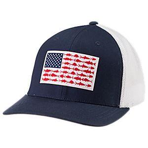 Columbia PFG Fish Flag Mesh Ball Cap for Men  588a4308dfd3