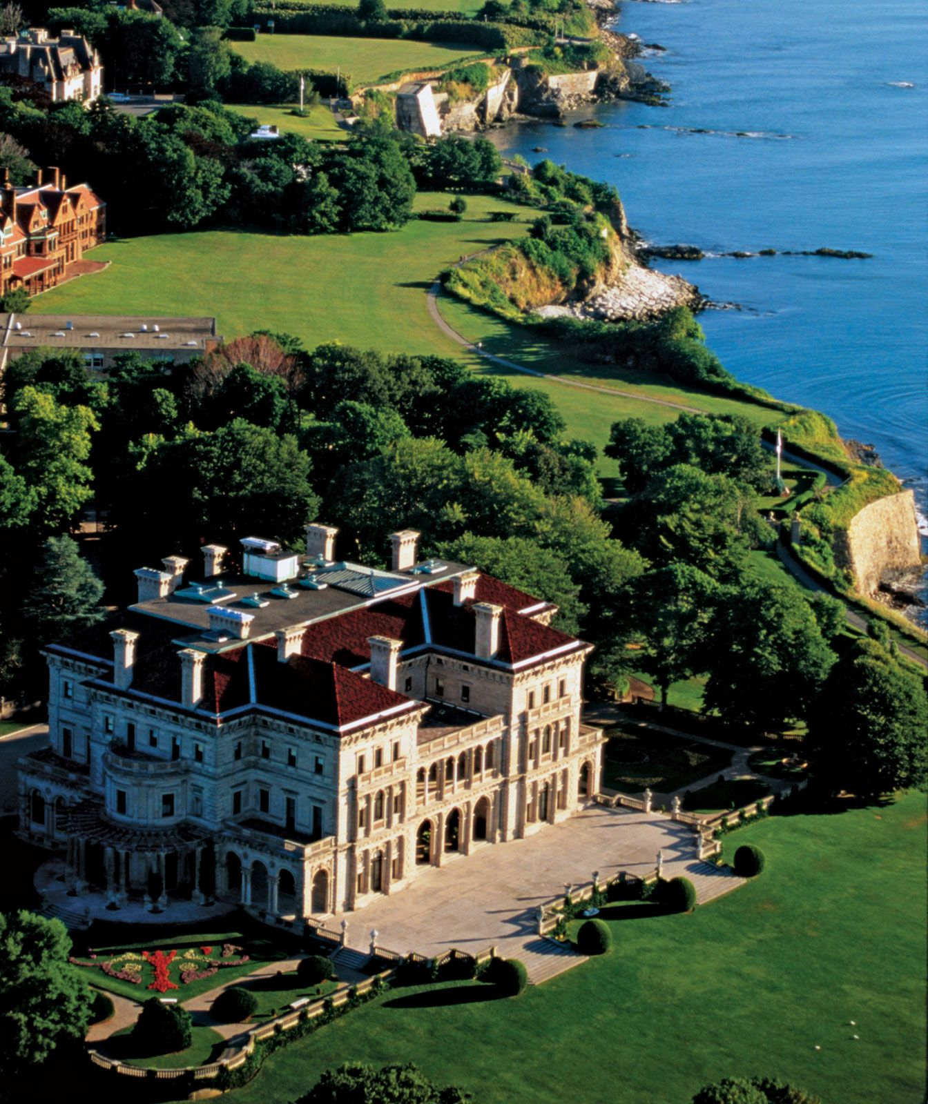 New Port, Rhode Island Some Of The Mansions Are Open For