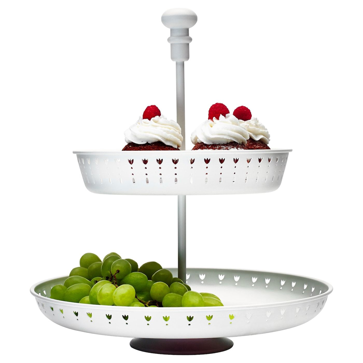 Garnera Serving Stand Two Tiers White Serving Stand Ikea 2 Tier Cake Stand