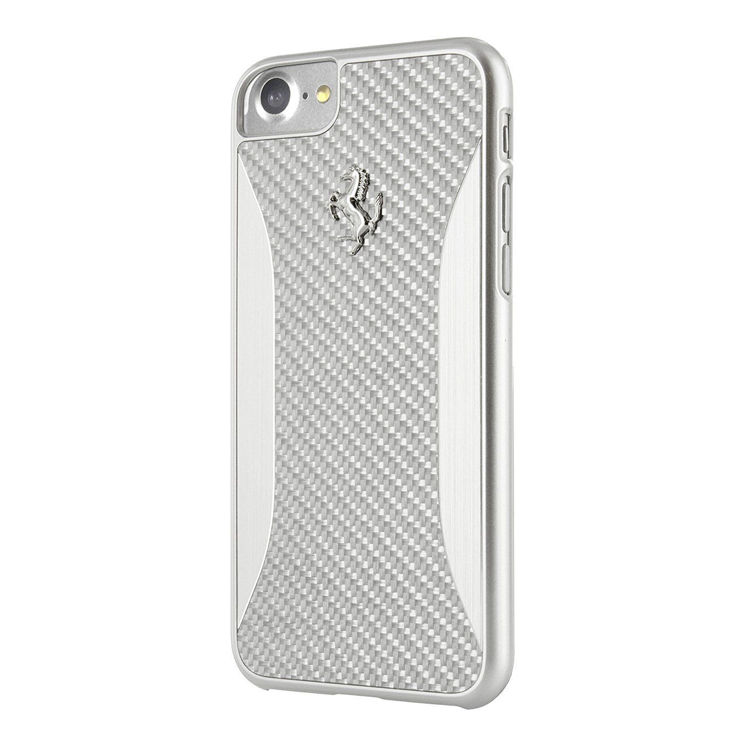 06d53c58947 Ferrari Scudaria Carbon Fiber Hard Case for Apple iPhone 7 - Silver ...