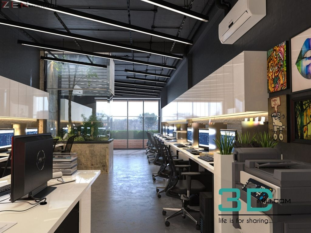 3d Max Office Interior Models Free Download