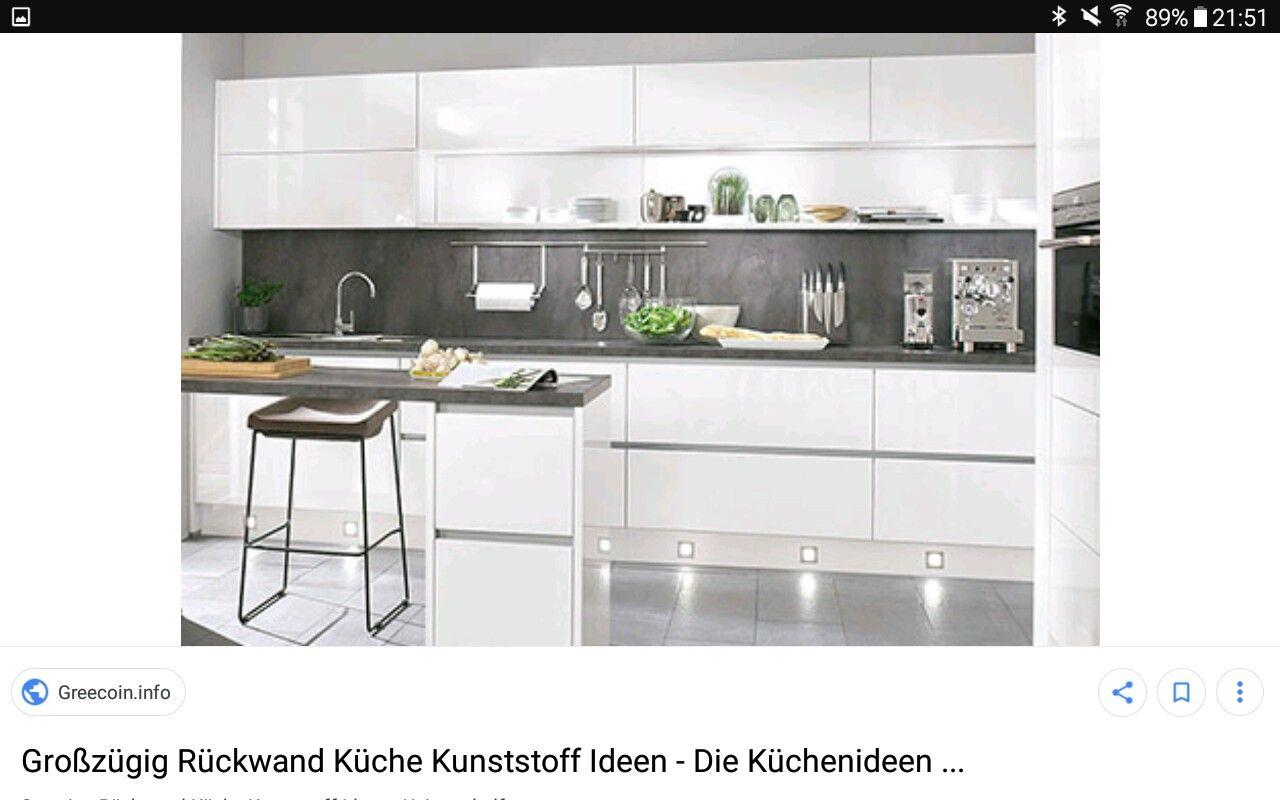 Rückwand Küche Kunststoff. Spritzschutz Aus Glas Küche Sockelleiste ...
