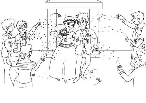 Hochzeit Und Liebe Hochzeitspaar Ausmalen Zum Ausmalen Hochzeit
