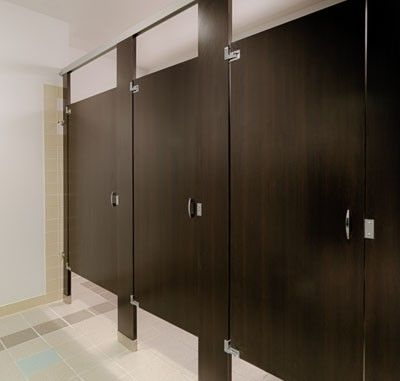 Ironwood Manufacturing Wood Pattern Plastic Laminate Toilet - Bathroom partition design