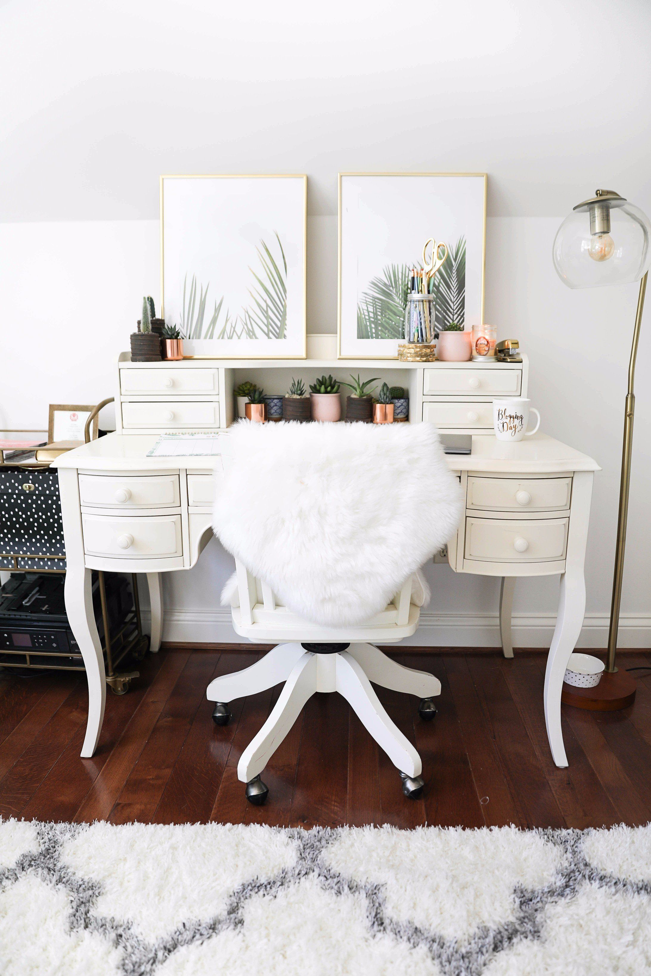 Cute Desk Goals Palm Leaf Room Tour The Perfect Summer