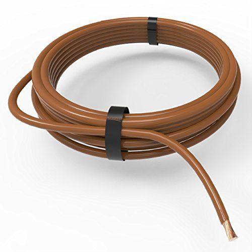 Auprotec® Câble unipolaire 075 mm² Fil Électrique en anneau 10m - gaine electrique pour exterieur