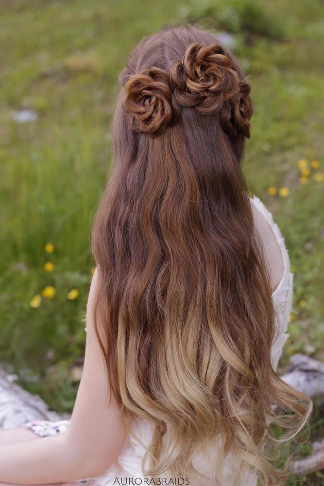 Rose Updo Hair Styles Beautiful Hair Hair Updos