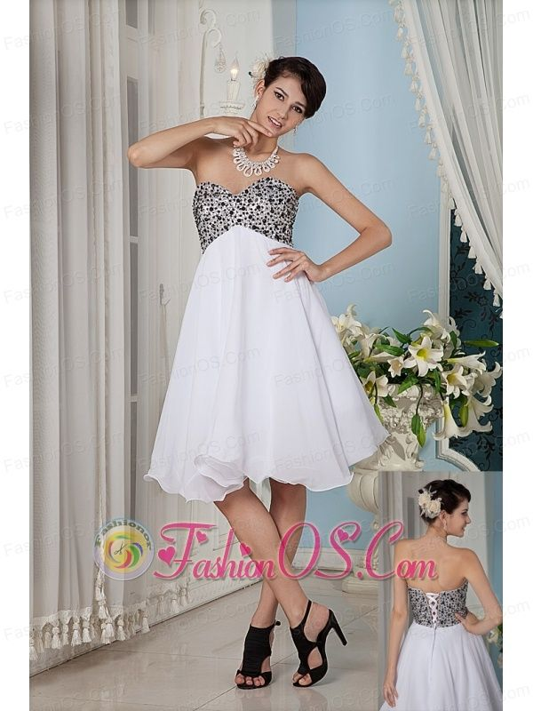 Simple White A-line / Princess Prom / Homecoming Dress Sweetheart ...