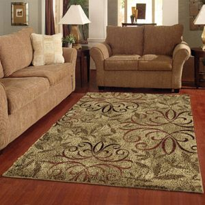 Orian iron fleur olefin shag area rug rugs i love - Better homes and gardens iron fleur area rug ...