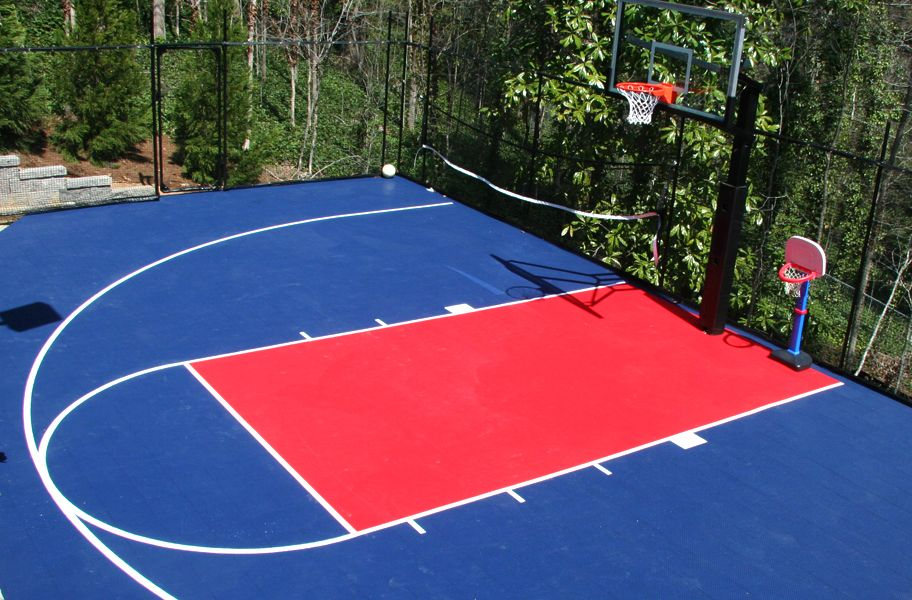 Outdoor Sports Tiles Basketball Court
