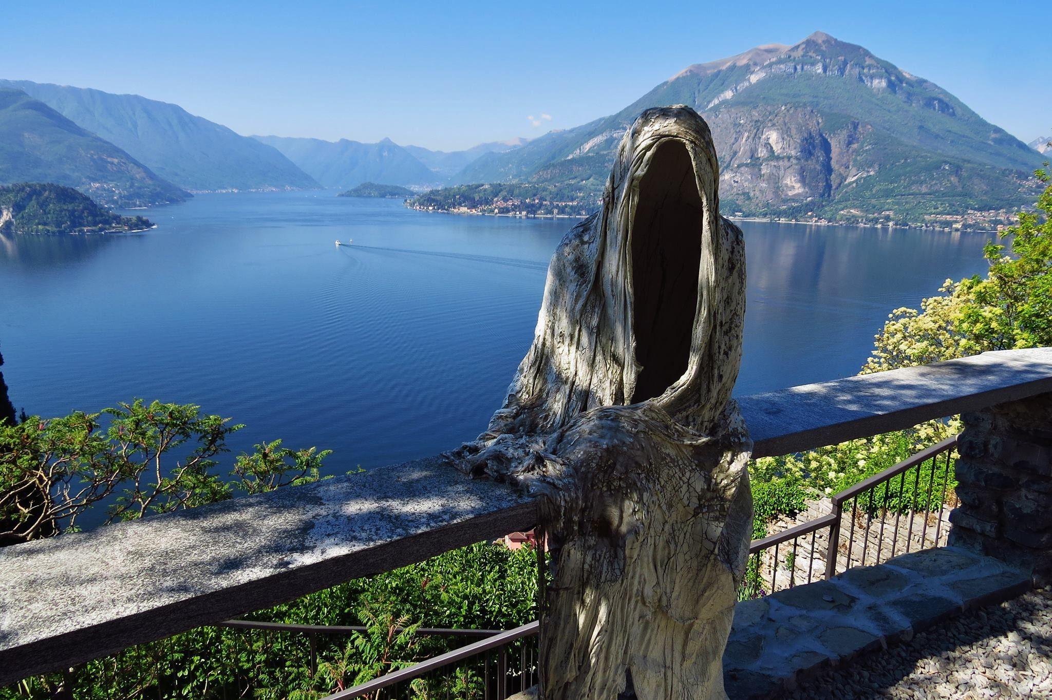 Bucket List Alert Ghost Sculpture In The Castle Of Vezio In Lake Como Italy Theshaydeelife Lake Como Italy Lake Como Lake