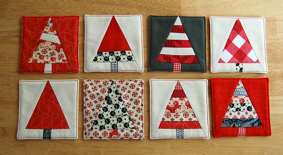 Photo of Christmas Tree Coasters are Great for the Holidays – Quilting Dig