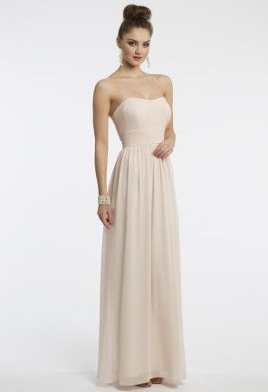 2b98d6a2635 Camille La Vie chiffon grecian dress with a strapless sweetheart neckline,  pleated ruched empire bodice, chiffon skirt and center back zipper.