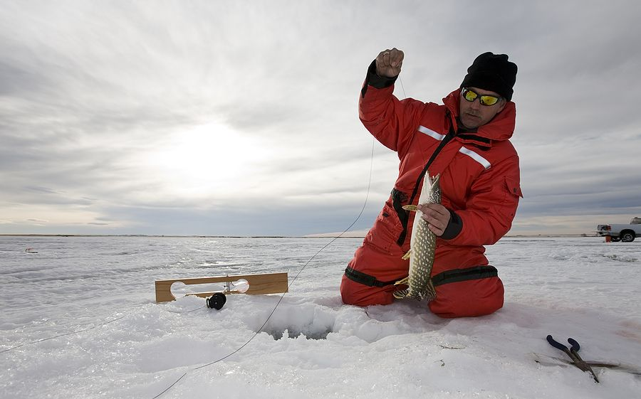 Lots of ice and a fish Ice fishing tips, Ice fishing