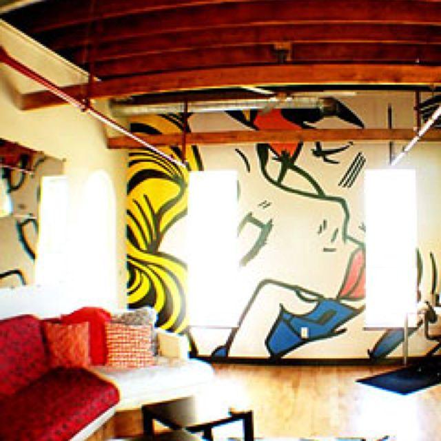 Im a big fan of Roy Lichtenstein art. I would love a living room ...