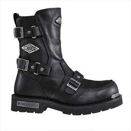 Zapatos negros Harley Davidson para hombre WIAcS8Osl