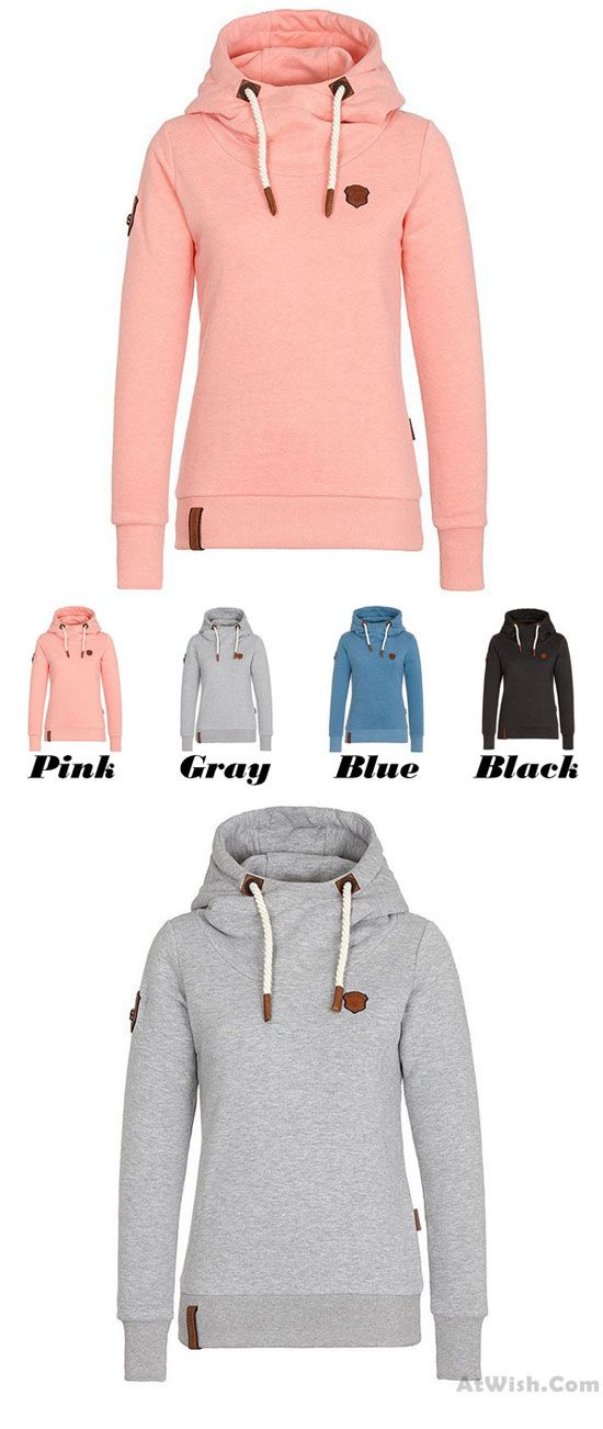 5cff426da84 Simple Fall Winter Hoodie Outfit Girls Sport Cashmere Top Pure Color Women  Sweater for big sale!  simple  fall  winter  women  sport  coat  sweater