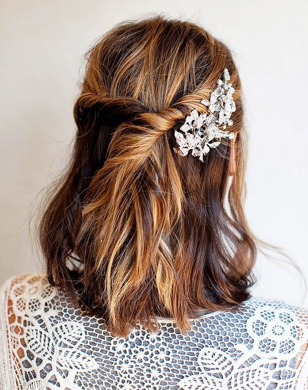 30 Party Perfect Holiday Hair Ideas Hair Pinterest - Peinados-semirecogidos-pelo-corto