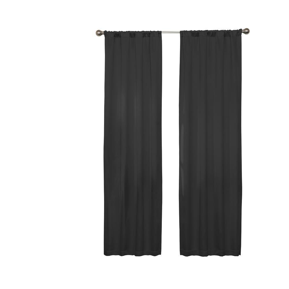 Darrell Blackout Window Curtain Panel In Black 37 In W X 63 In