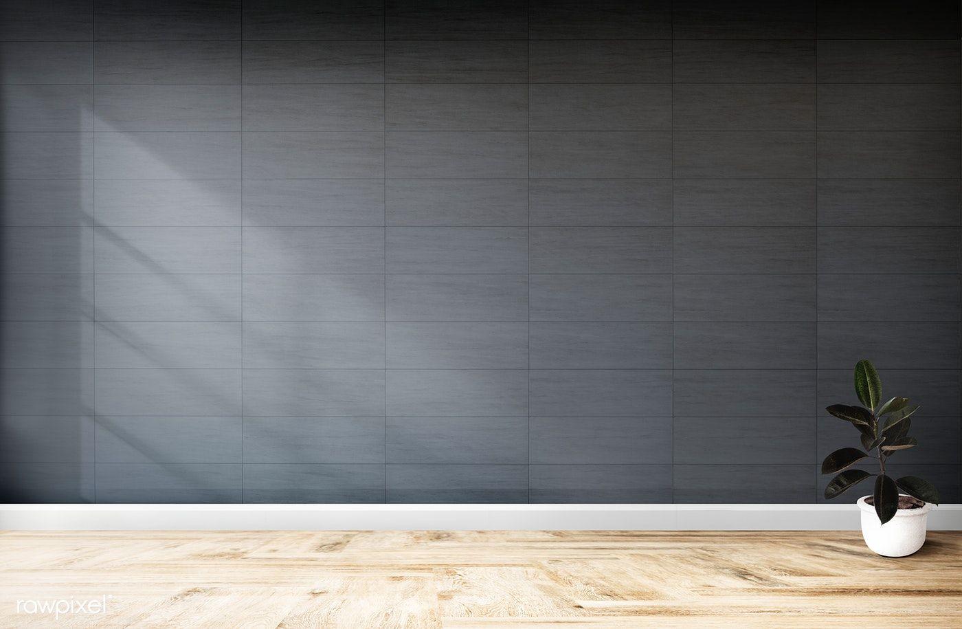 Plant Against A Black Wall Mockup Free Image By Rawpixel Com Black Walls Room Wallpaper Wall