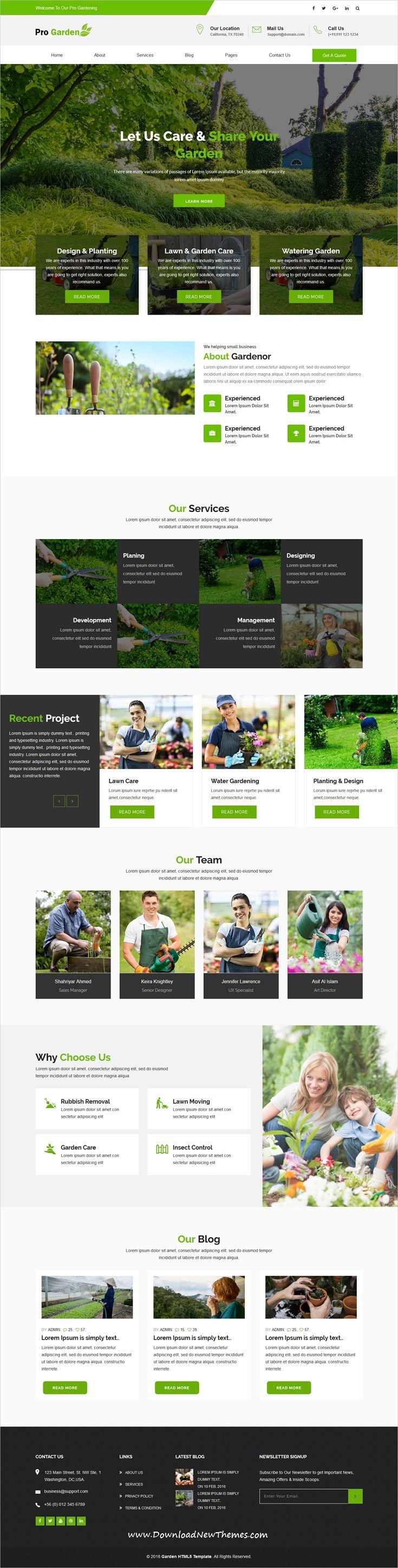 Progadan Gardening Landscaping Html Template Landscape Design Landscape Layout Design Inspiration