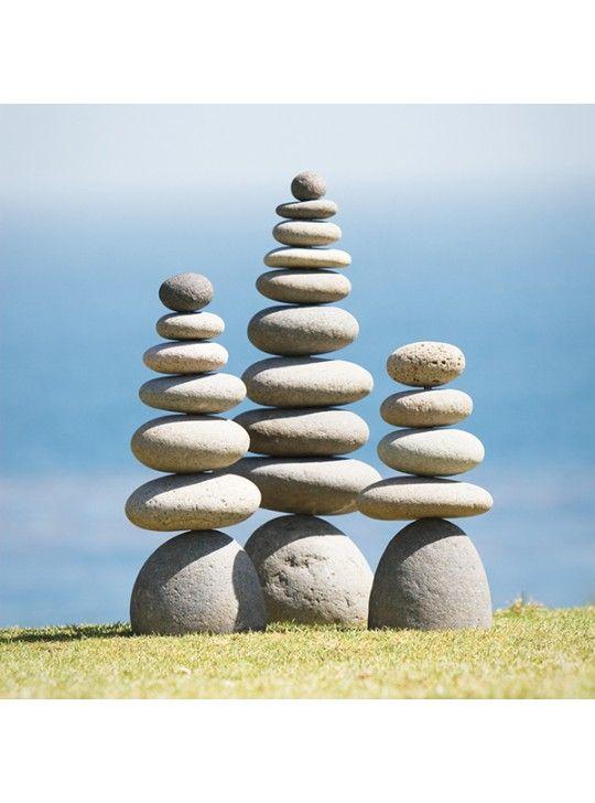 Giant Rock Cairn Inspirational Zen Garden Pile Stones Zen Garden