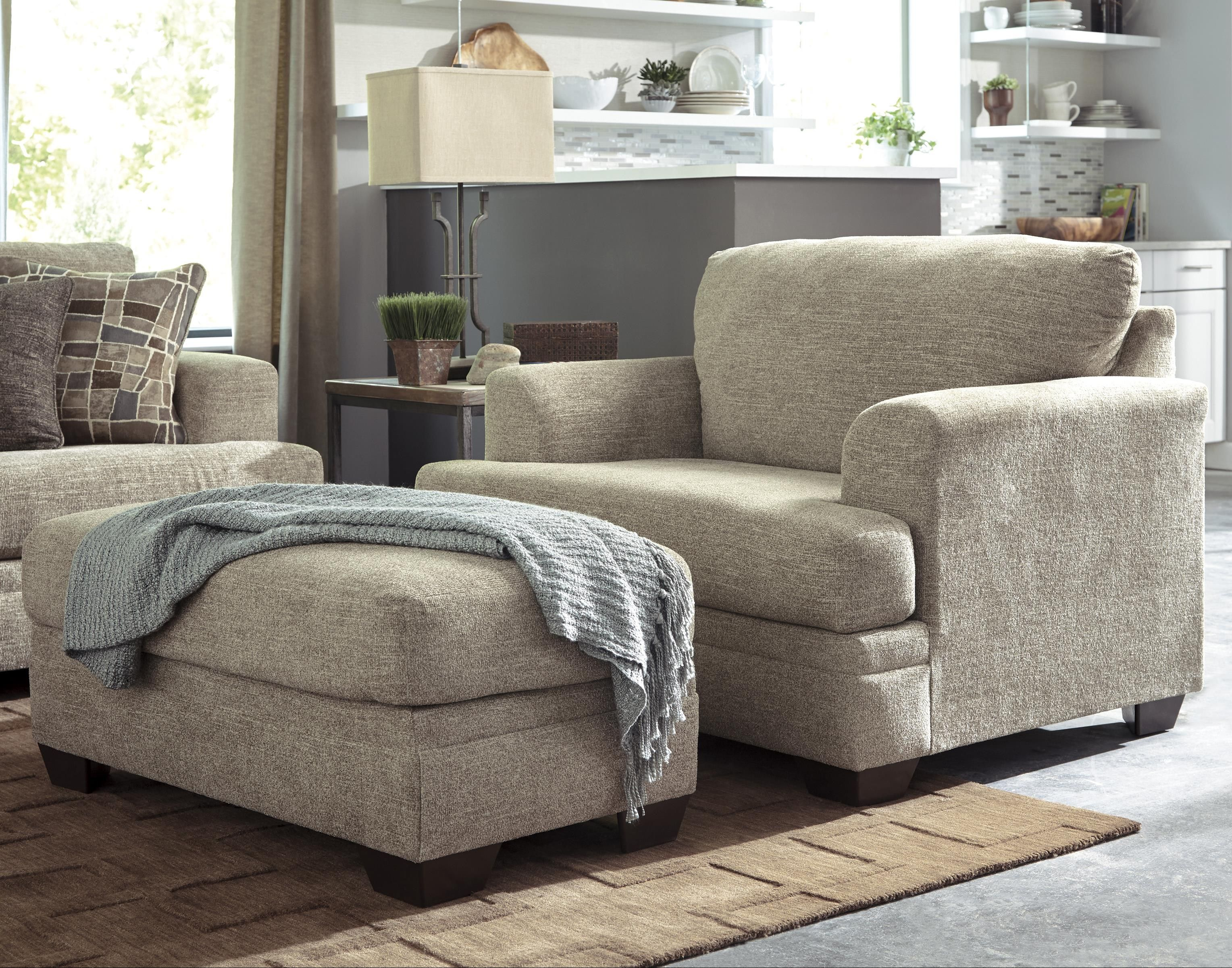Buy Chair And A Half With Ottoman For Better Comfort At Home Oversized Chair And Ottoman Living Room Chairs Blue Chairs Living Room