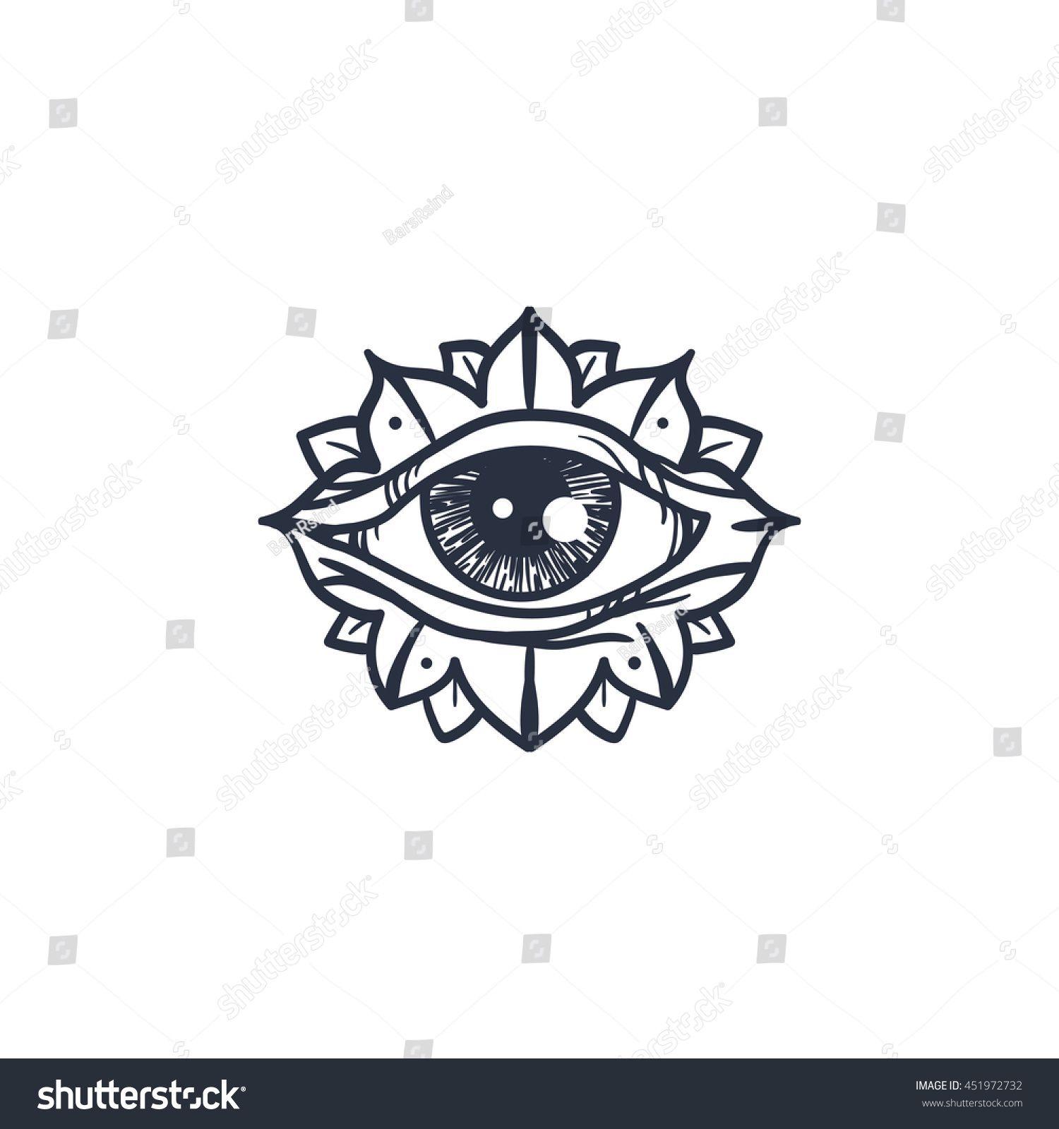 Vintage All Seeing Eye In Mandala Providence Magic Symbol For Print