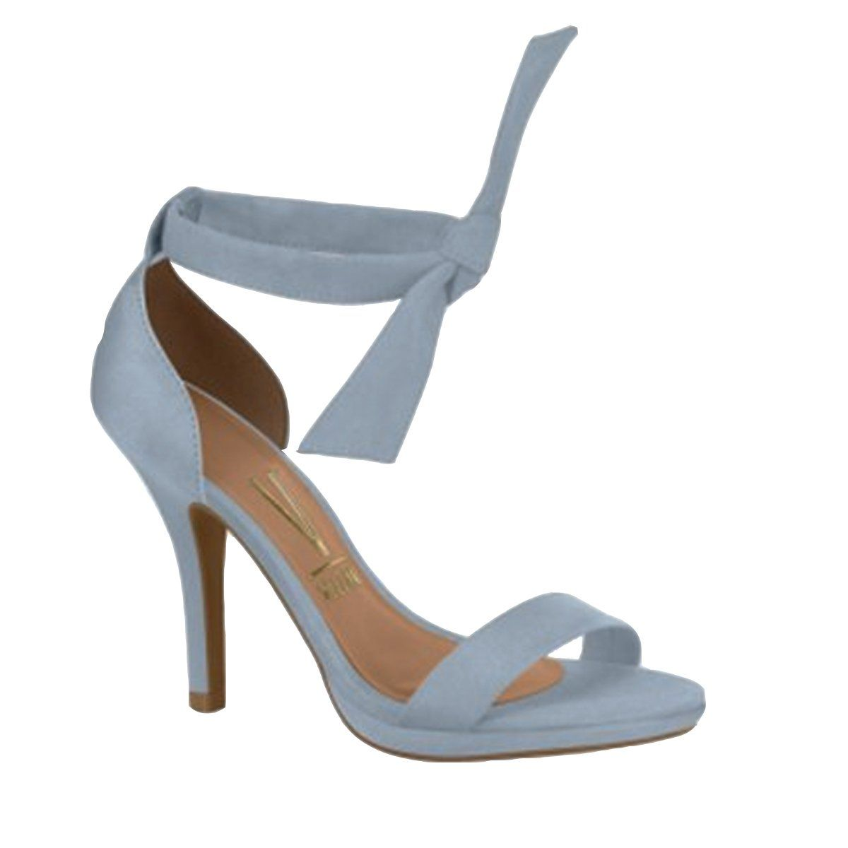 41a7c4efc9 Compre Online Sandália de salto fino com laço no tornozelo Vizzano 6210.458