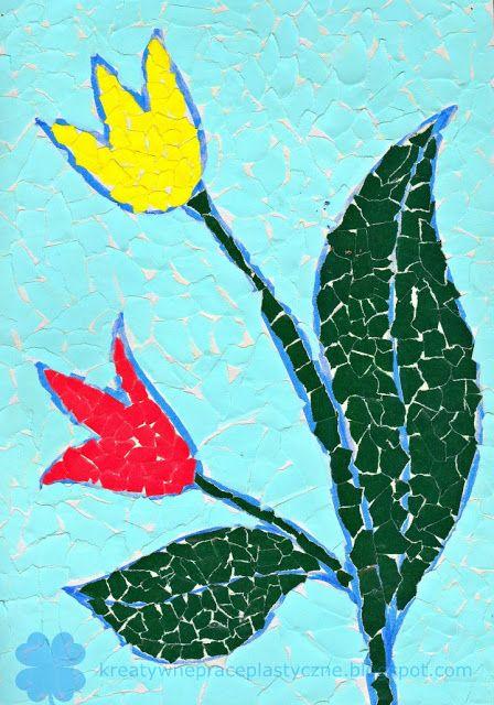 Wiosenne Kwiaty Wydzieranka Z Papieru Paper Art Art Projects Kids Art Projects
