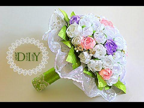 Букет Невесты Своими Руками | KANZASHI | DIY - YouTube