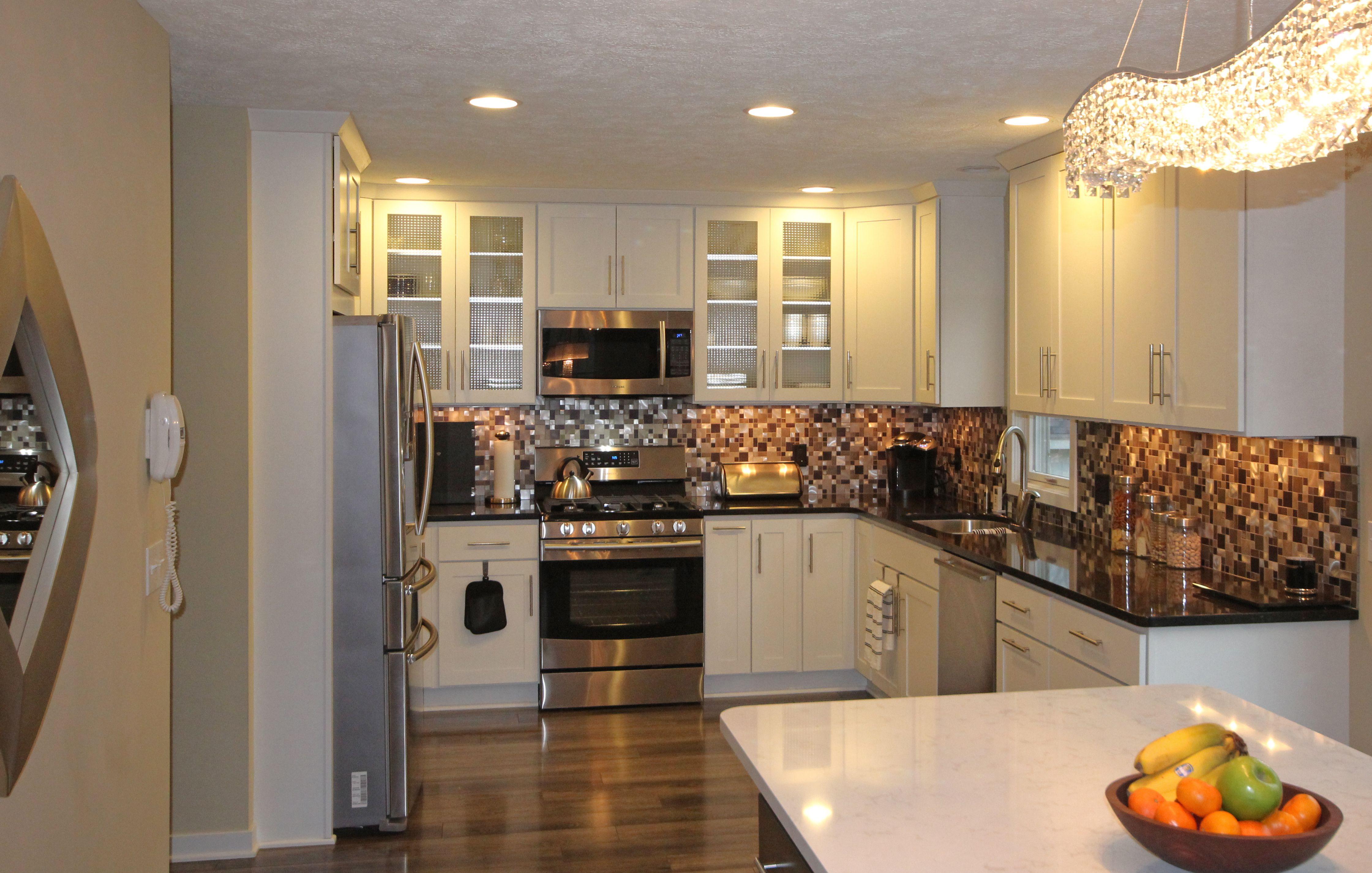 Transitional   Starlite Kitchens   Kitchen, Brown tile ...