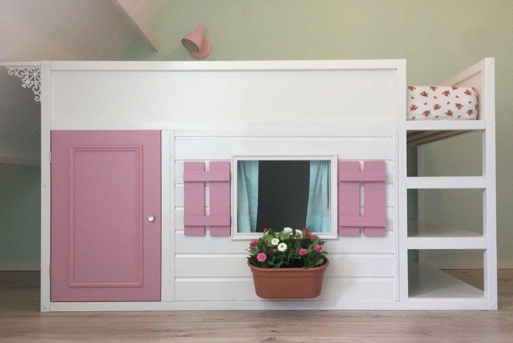 Letto A Castello Con Scivolo Ikea.Let S Play House A Bunk Bed Converted To Playhouse Ikea Kura