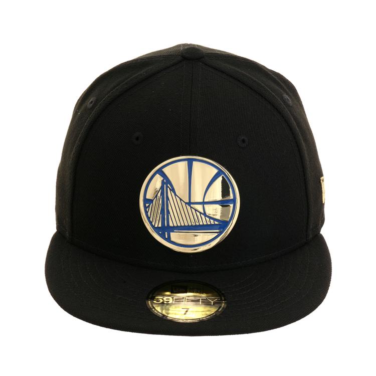 a4f599364f67a4 New Era 59Fifty Golden State Warriors Golden Front Hat - Black, $39.99