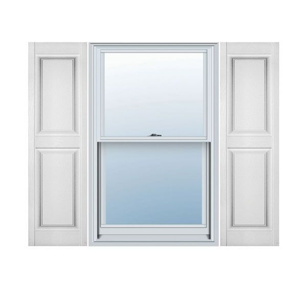 12 X 43 Builders Choice Vinyl Raised Panel Window Shutters W Shutter Spikes S Per
