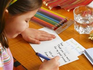Kids Thank You Note Samples  The Art Of Letter Writing