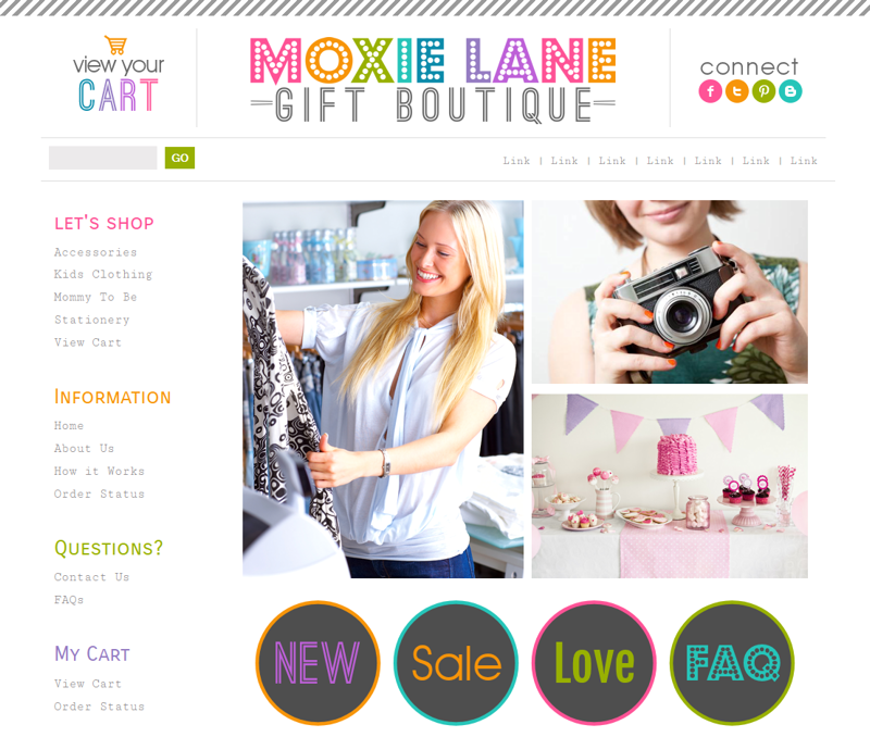 Moxie Lane One Boutique Website Template | Mod Melon Creative ...