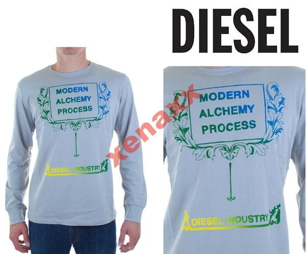 Diesel Markowa Koszulka 100 Bawelna R L 3969483505 Oficjalne Archiwum Allegro Long Sleeve Tshirt Men Mens Tops Mens Tshirts