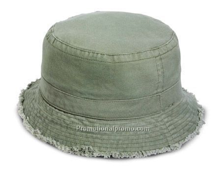 6864e542f2067b garment washed cotton twill bucket hat / frayed brim | Jeans In ...