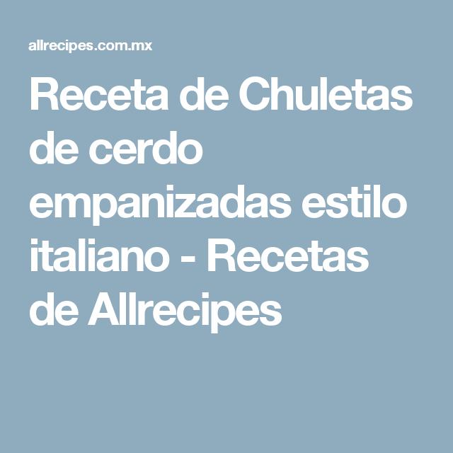 Receta de Chuletas de cerdo empanizadas estilo italiano - Recetas de Allrecipes