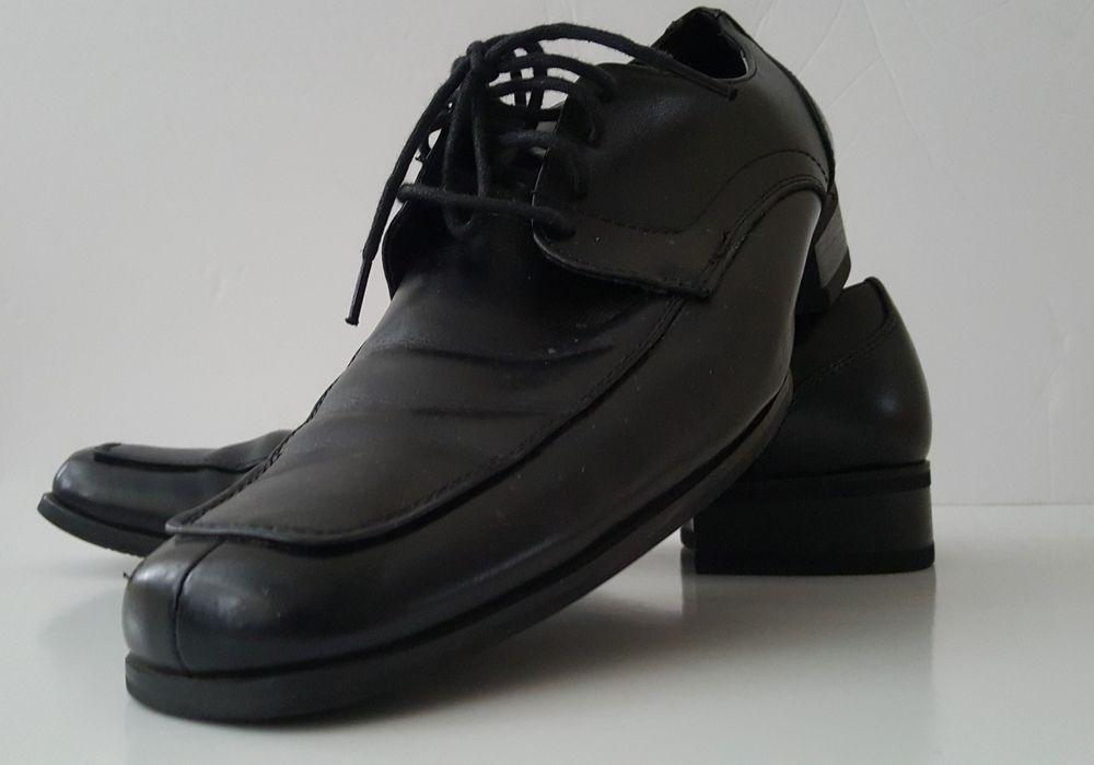 on sale fdd4a 1c86a Steve Madden 809 Mens Evollve Black Leather Square-Toe Oxfords Shoes 8M   SteveMadden