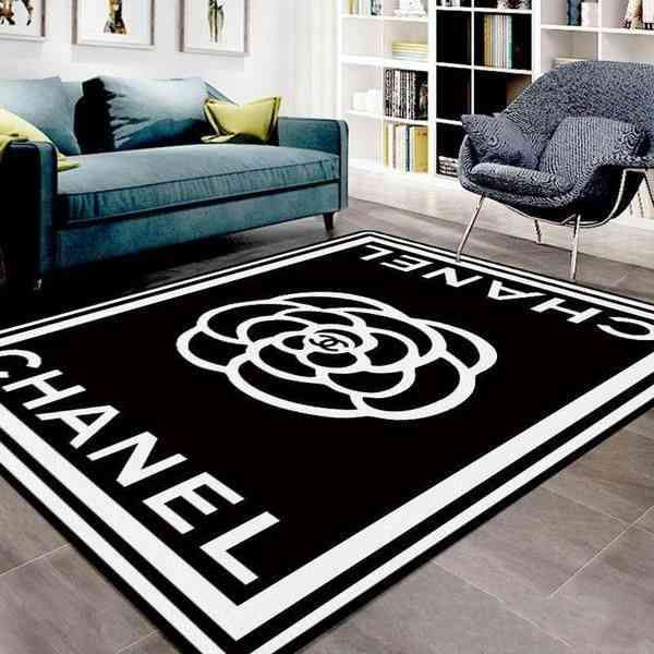 Chanel Area Amazon Best Seller Sku 1754 Rug In 2020 Rugs In Living Room Living Room Carpet Black And White Living Room #versace #living #room #rug