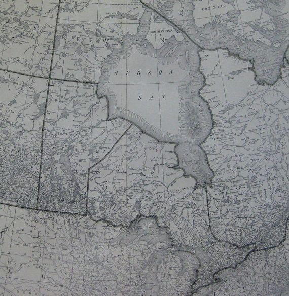 RARE Size CANADA Map of Canada Alberta British by plaindealing