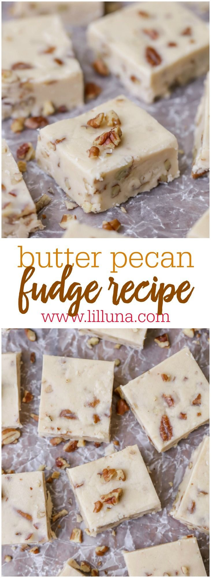 Pecan Fudge The BEST Butter Pecan Fudge - this fudge recipe is perfect to enjoy at the holidays or to gift to friends and neighbors.The BEST Butter Pecan Fudge - this fudge recipe is perfect to enjoy at the holidays or to gift to friends and neighbors.