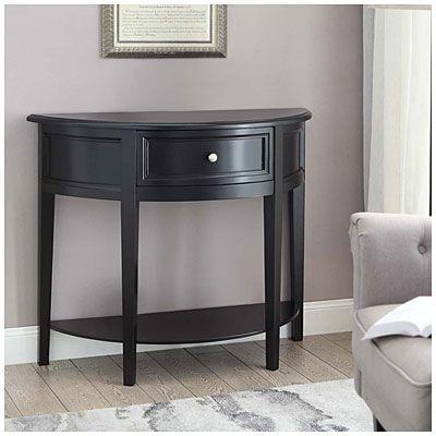 black semi circle accent table at big lots home in 2019 table circle table accent furniture. Black Bedroom Furniture Sets. Home Design Ideas