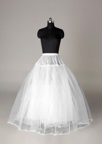 A-line 5 Tiers Net Floor-length Slip Style Wedding Petticoats
