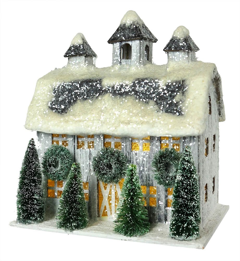 Small Lighted White Village House Vintage Christmas Decorations Christmas Village Houses Christmas Decorations